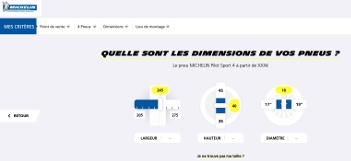Réalisation du site E-Commerce Michelin Pilot Sport 4
